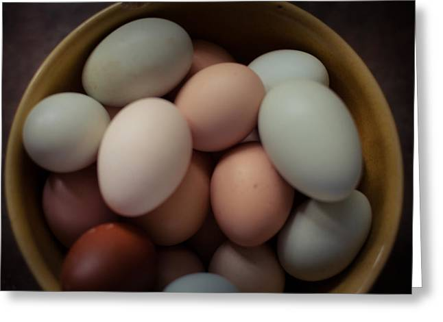 Rural Images Greeting Cards - Just Eggs in a Bowl Greeting Card by Toni Hopper