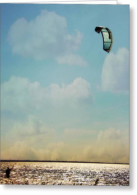 Best Sellers -  - Kiteboarding Greeting Cards - Just Enough Wind Greeting Card by Lana Trussell