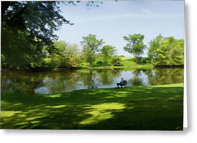 Wisconsin Fishing Greeting Cards - Just Fishin Greeting Card by Gordon Engebretson