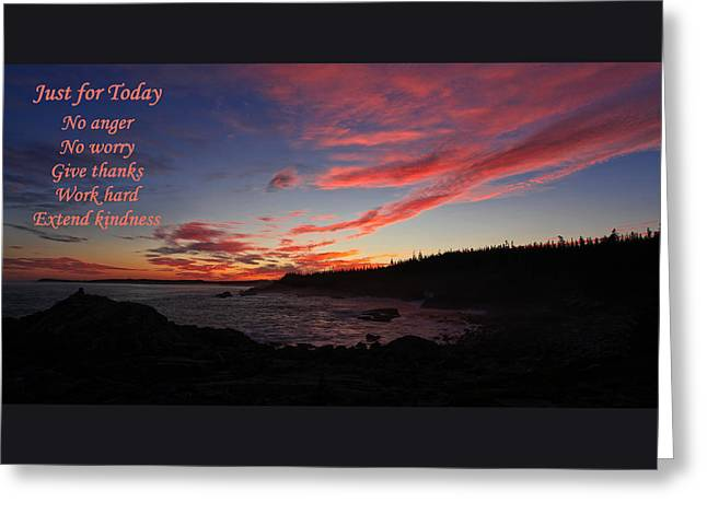 Quoddy Greeting Cards - Just for Today 9 Greeting Card by Bill Caldwell -        ABeautifulSky Photography