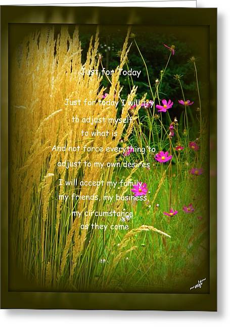 Frizzell Greeting Cards - Just for Today Greeting Card by Michelle Frizzell-Thompson