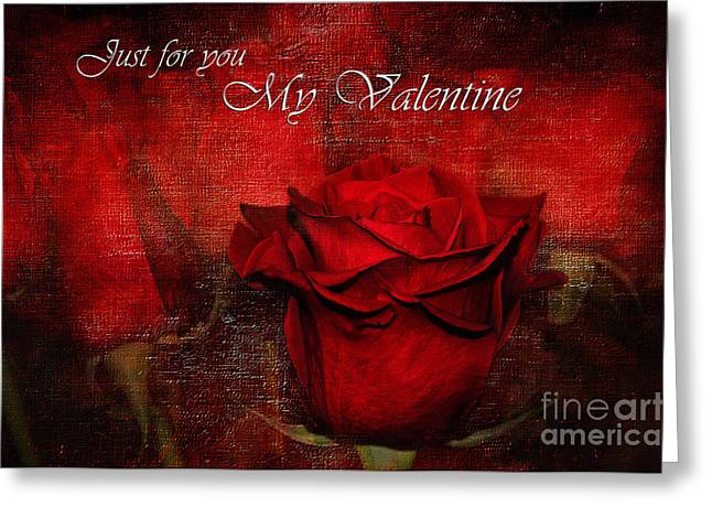 Just Lovers Greeting Cards - Just For You My Valentine Greeting Card by Kaye Menner