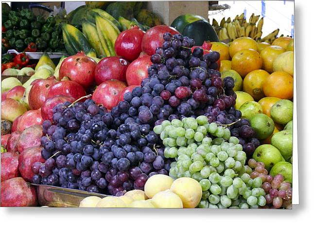 Colorful Greeting Cards - Just Fruit Market at Cuenca Ecuador Greeting Card by Kurt Van Wagner