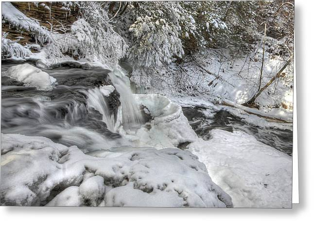 Wintry Photographs Greeting Cards - Just Go with the Flow Greeting Card by Lori Deiter