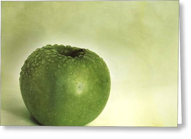 Fruits Photographs Greeting Cards - Just Green Greeting Card by Priska Wettstein