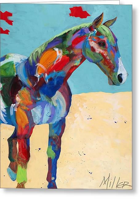 Tracy Miller Greeting Cards - Just Hangin Around Greeting Card by Tracy Miller