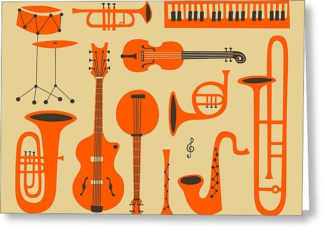 Jazz Digital Art Greeting Cards - Just Jazz Greeting Card by Jazzberry Blue