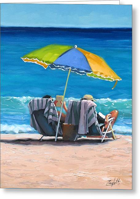 Umbrella Greeting Cards - Just Leave a Message IV Greeting Card by Laura Lee Zanghetti