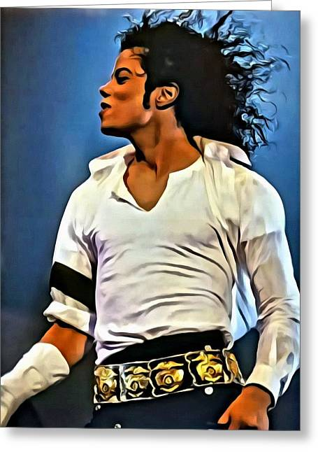 Michael Jackson Greeting Cards - Just Michael Greeting Card by Florian Rodarte