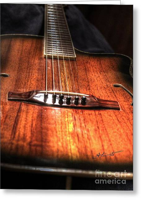 Just Music Digital Guitar Art By Steven Langston Greeting Card by Steven Lebron Langston