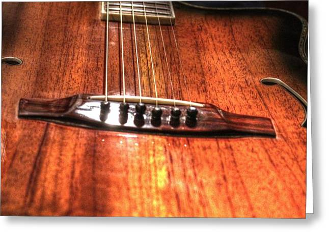 Just Music Digital Guitar Art by Steven Langston Greeting Card by Steven Lebron Langston