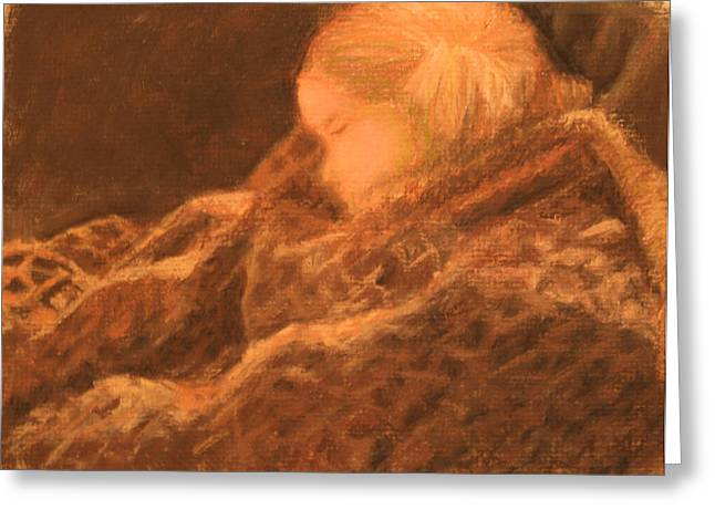 Soft Light Pastels Greeting Cards - Just Napping Greeting Card by Will Germino