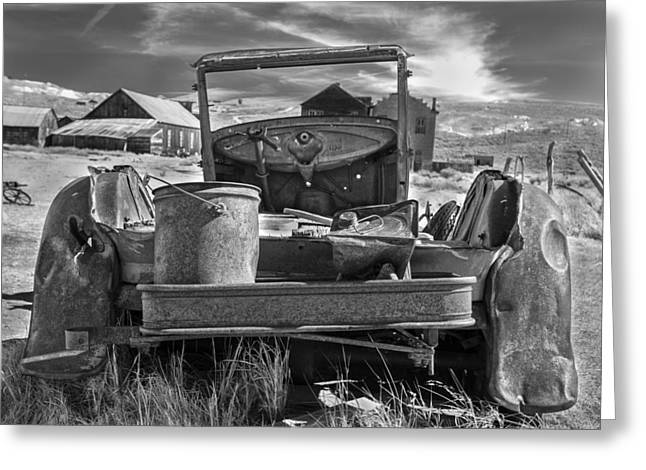 Abandond Greeting Cards - Just Needs Paint Greeting Card by Denise Dube