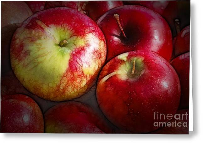 Fruit Tree Art Greeting Cards - Just  One A Day Greeting Card by Sandra Bronstein
