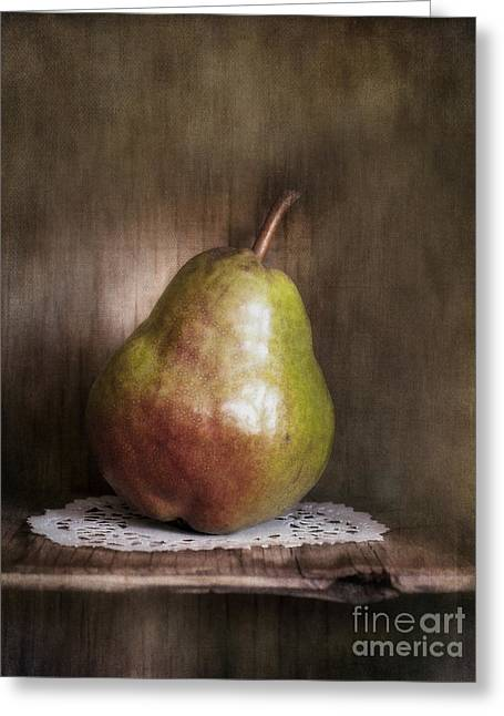 Brown Pears Greeting Cards - Just One Greeting Card by Priska Wettstein