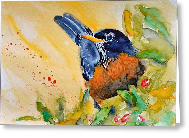American Watercolor Society Greeting Cards - Just Outside Greeting Card by Beverley Harper Tinsley