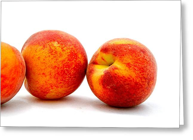 Just Peachy Greeting Card by Don Bendickson