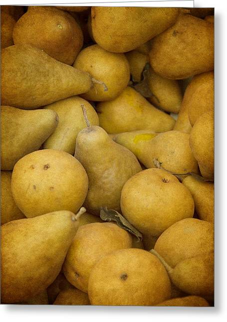 Pears Photographs Greeting Cards - Just Pears Greeting Card by Rebecca Cozart
