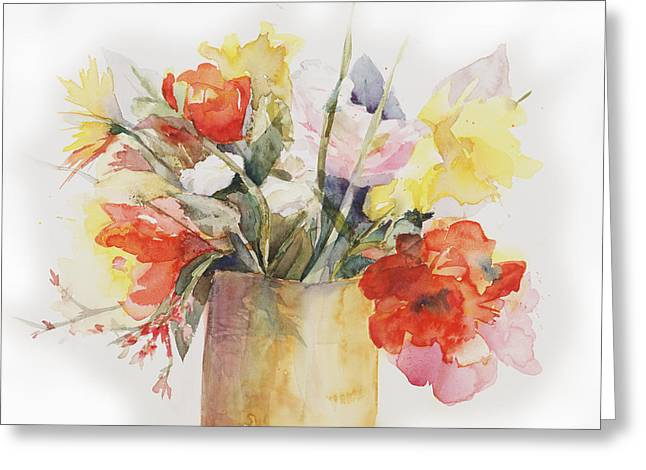 Flower Still Life Greeting Cards - Just Picked Greeting Card by Bonnie Rinier
