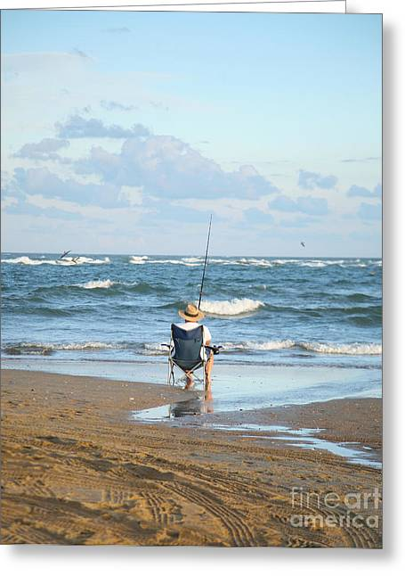 Suzi Nelson Greeting Cards - Just Relaxin and Fishin Greeting Card by Suzi Nelson