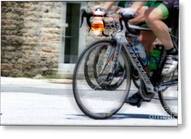 Sports Digital Art Greeting Cards - Just Riding Along Greeting Card by Steven  Digman