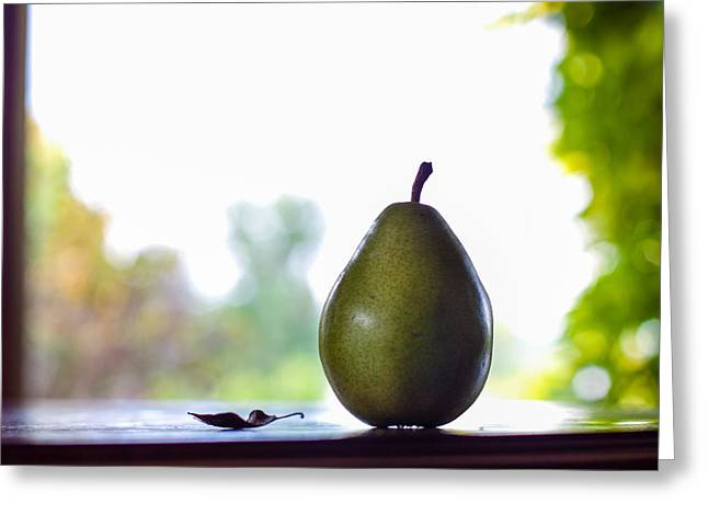 Pear Art Greeting Cards - Just Sitting And Thinking Greeting Card by Constance Fein Harding