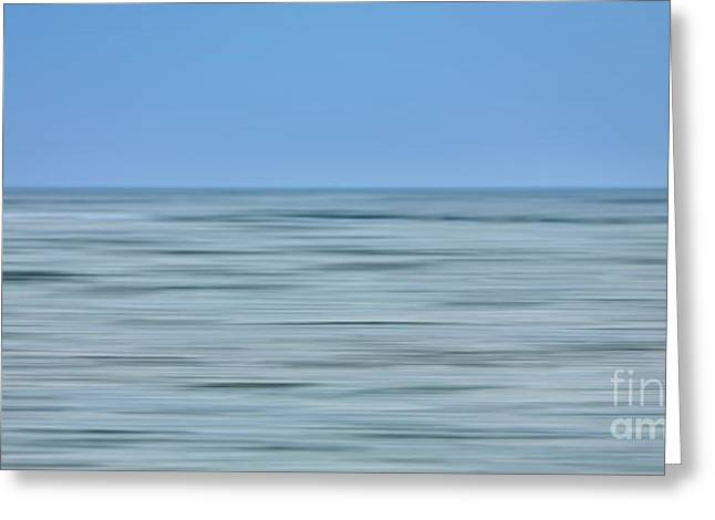 Surreal Landscape Greeting Cards - Just Sky Just Water - a Tranquil Moments Landscape Greeting Card by Dan Carmichael
