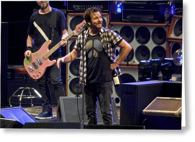 Pearl Jam Photographs Greeting Cards - Just Smile Greeting Card by David Powell