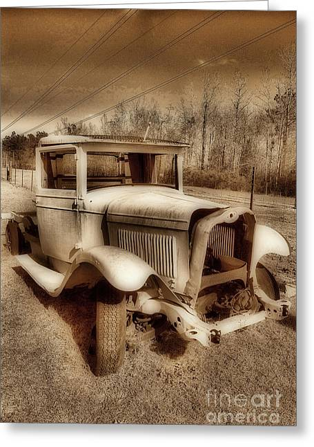 Car Part Greeting Cards - Just The Skin Greeting Card by Skip Willits
