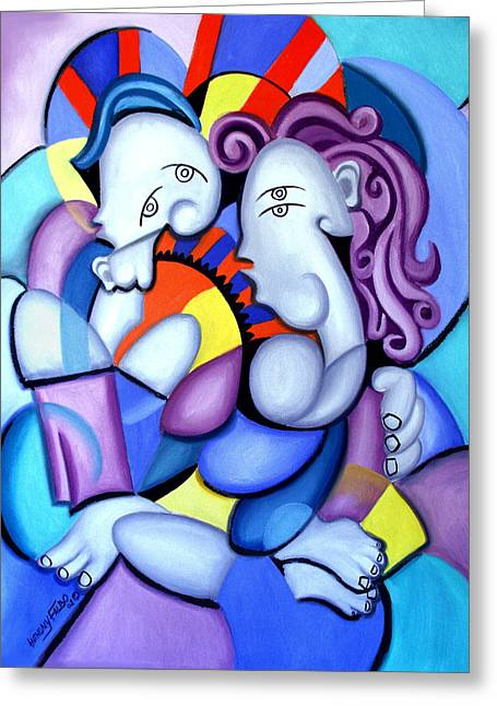 Just The Two Of Us Greeting Card by Anthony Falbo