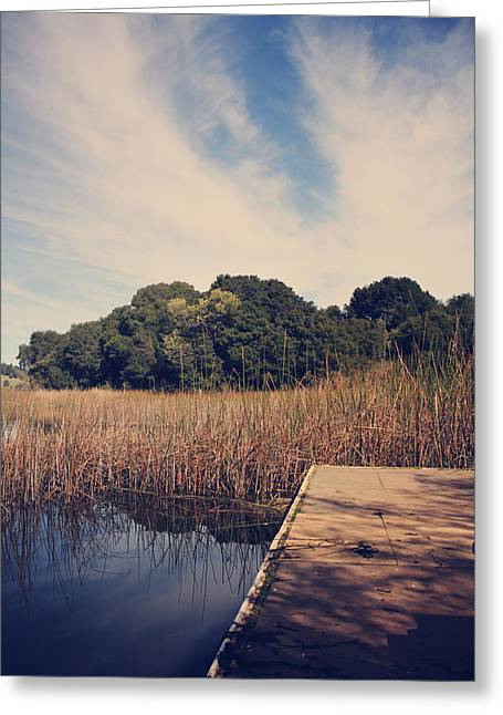Lafayette Reservoir Greeting Cards - Just to Make This Dock My Home Greeting Card by Laurie Search