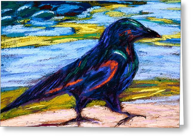 Raven Pastels Greeting Cards - Just Walking Along Greeting Card by Beverley Harper Tinsley