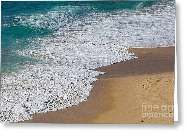 Just Waves And Sand By Kaye Menner Greeting Card by Kaye Menner