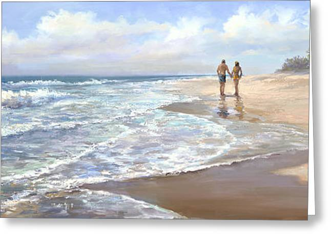 Beach Landscape Greeting Cards - Just We Two Greeting Card by Laurie Hein