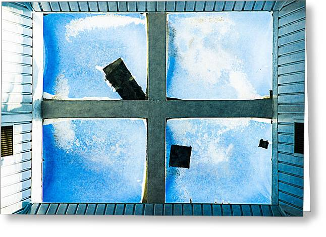 Transoms Greeting Cards - Just Window 1 - Light Greeting Card by Alexander Senin