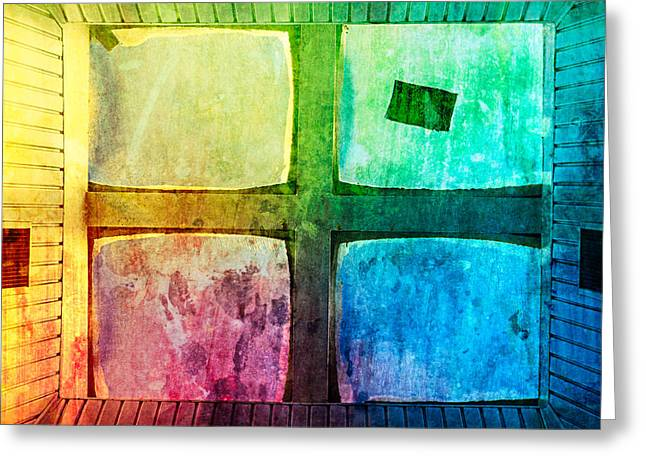 Roof Covering Greeting Cards - Just Window 2 - Colorful Greeting Card by Alexander Senin