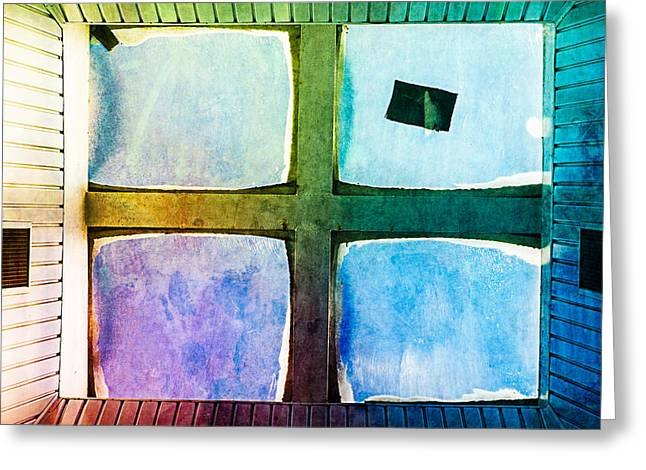 Roof Covering Greeting Cards - Just Window 2 - Medium Greeting Card by Alexander Senin