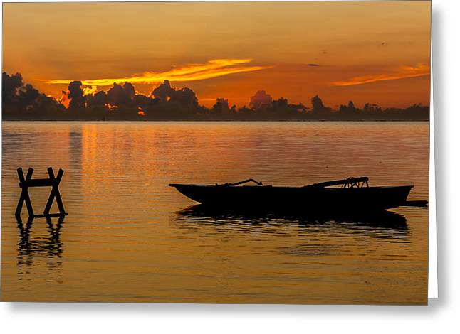 Panoramic Ocean Greeting Cards - Just You and Me Greeting Card by Kristina Abramovic