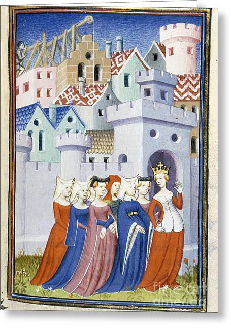 Justice Enters The City Of Ladies Greeting Card by British Library  Science Photo Library