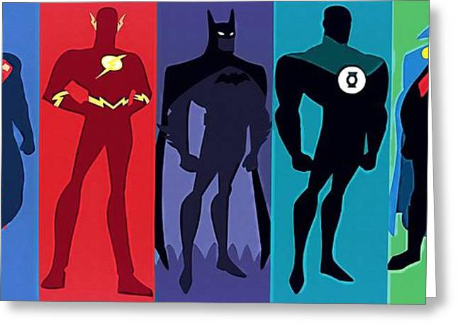 Flash Greeting Cards - Justice League Greeting Card by Victor Gladkiy