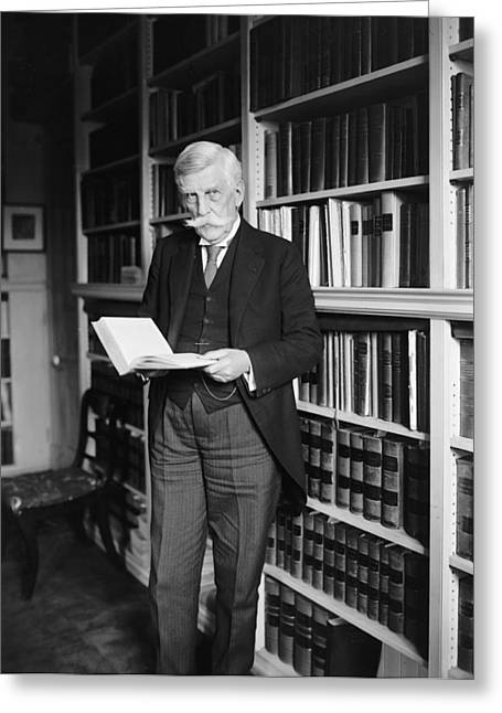 Chief Justice Greeting Cards - Justice Oliver Wendell Holmes 1924 Greeting Card by Mountain Dreams