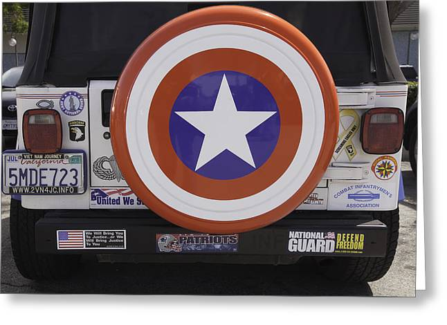 Captain America Photographs Greeting Cards - Bumper Stickers Greeting Card by Ram Vasudev