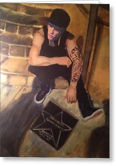 Justin Bieber Paintings Greeting Cards - Justin Bieber Greeting Card by Ines Said