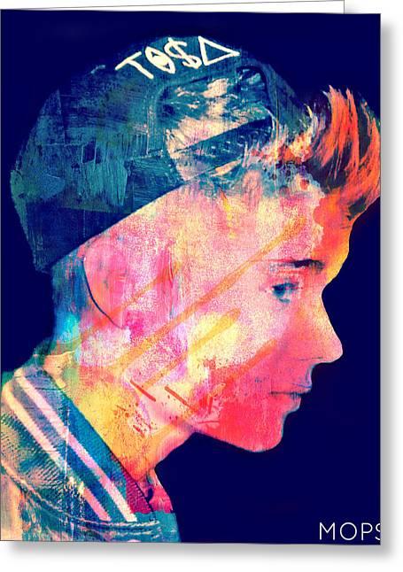 Justin Bieber Digital Art Greeting Cards - Justin Bieber Greeting Card by Jessica Echevarria