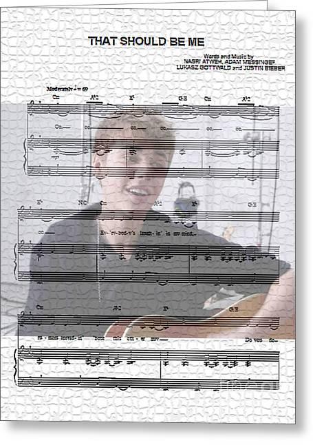 Justin Bieber Digital Art Greeting Cards - Justin Bieber That Shoud Be Me Greeting Card by Marvin Blaine