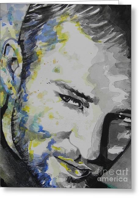 Justin Timberlake...02 Greeting Card by Chrisann Ellis