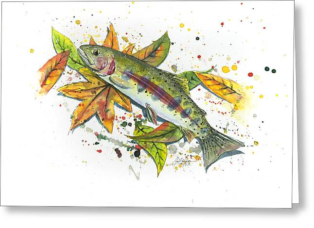 Rainbow Trout Greeting Cards - Juvenile Rainbow Trout Greeting Card by Joel DeJong