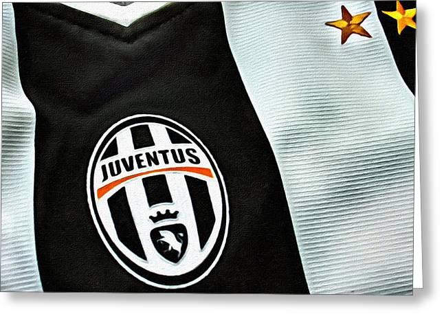 Signora Greeting Cards - Juventus Poster Art Greeting Card by Florian Rodarte