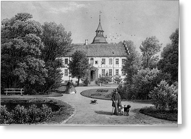 Jylland Greeting Cards - Jylland Rydhave 1867 Greeting Card by Celestial Images