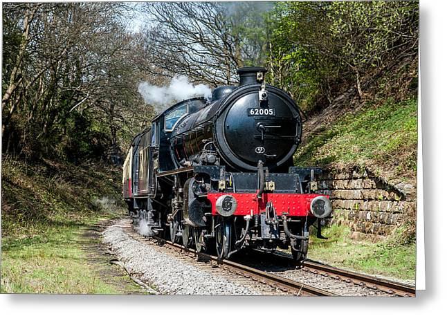 Nostalga Greeting Cards - K1 62005 Steam Train Greeting Card by Dave Hudspeth